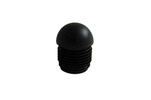 GLEITGUT 4 x lamellendoppen met kogelkop voor ronde buizen Ø 17,6-18,9 mm - zwarte eindkappen - stoeldoppen