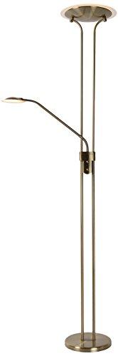 Lucide CHAMPION-LED - Lampadaire - Ø 25,4 cm - LED Dim. - 1x20W 3000K - Bronze 03