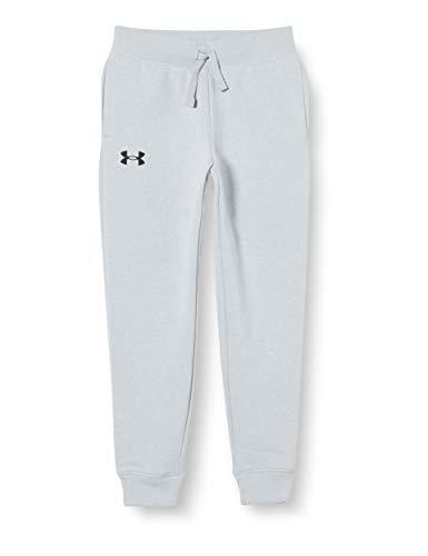 Under Armour Rival Cotton Pants Pantalones, Niños, Mod Gray Light Heather / / Negro (011), YLG