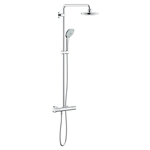 Grohe 27296001 Euphoria 180 - Sistema de ducha con termostato, alcachofa de 180 mm y teleducha tres chorros de 110 mm