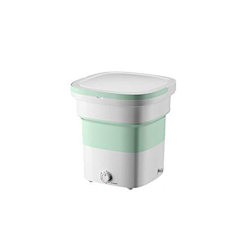 NEHARO Mini Lavadora Lavadora Plegable Pequeño Mini Dormitorio Hogar Automático Lavado de Ropa Interior Calcetines portátiles para Dormitorio Individual (Color : Green, Size : 36x36x38cm)