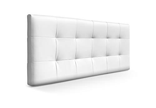 SUENOSZZZ-ESPECIALISTAS DEL DESCANSO Cabecero de Cama para Dormitorio Tapizado Piel Sintetica Color Blanco
