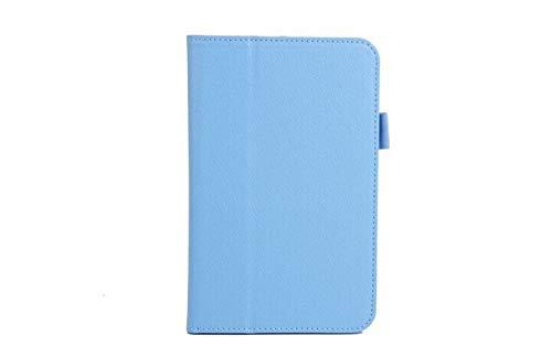 HHF Pad Accesorios para la lengüeta 3 Lite T110 T111 tabletas Libros Caso + Pluma del Soporte del tirón de la PU de la Cubierta de Libro de Cuero para la lengüeta 3 Lite (Color : Bule)