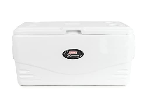 Coleman Coastal Xtreme Series Marine Portable Cooler, 100 Quart , White