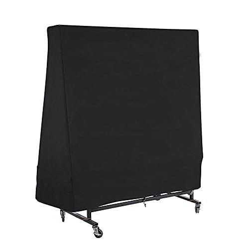210D Heavy Duty Table Tennis Tischabdeckung Oxford Wasserdicht Outdoor Winddicht UV Schutz Reißverschluss Lagerabdeckung Schutzhülle-Schwarz_160x160x85cm.
