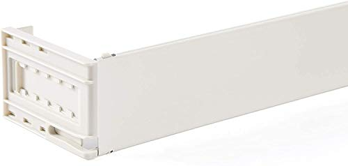 """Levolor Wide Pocket Curtain Rod 28"""" - 48"""" 3-1/2"""" - 6"""" Projection White"""