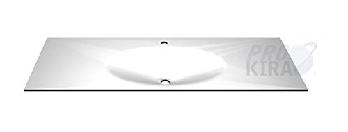 PELIPAL Solitaire 6010 Krion-Waschtisch, Weiß matt/KWT 54-1330-M/B: 133 cm