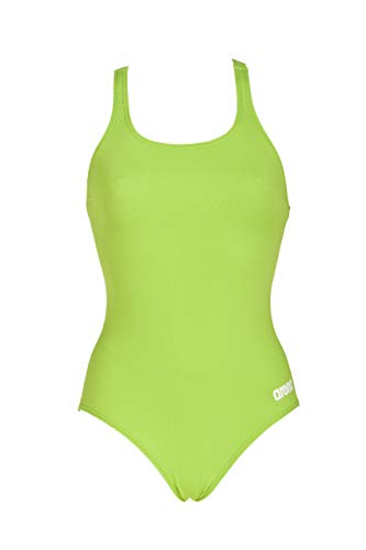 arena Women's Madison Athletic Thick Strap Racer Back Onepiece Swimsuit, Leaf White, Size 32