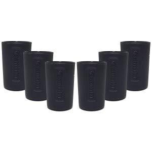 Jägermeister Shotglas Glas Gläser-Set - 6x Shotgläser schwarz 2cl geeicht