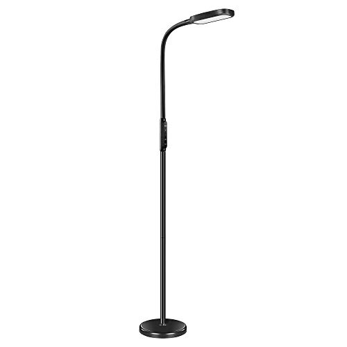 Miroco LED Floor Lamp with 5 Brightness Levels & 3 Color Temperatures, 1815 Lumens, Adjustable LED Floor Light, Dimmable Reading Standing Lamp for Sewing Living Room Bedroom Office