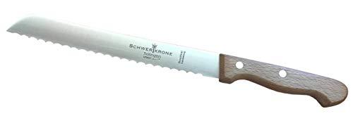 Schwertkrone Brotmesser Buche/Premiumqualität aus Solingen Messermanufaktur/Klingenlänge 20 cm 8