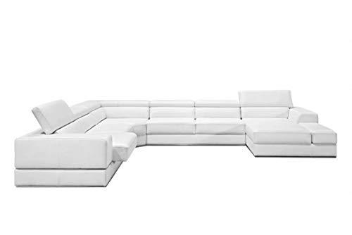 Limari Home Polo Sectional Sofa White 2