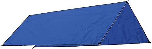WCNMD Jardín Sol Camping Tienda de Sol pluvia Sol UV Playa Canopy Toldo Refugio Playa Picnic Mat Ground Padsun Shade Sail (Color: Naranja, Tamaño: 210 x 300cm) (Color : Blue, Size : 210 X 300cm)
