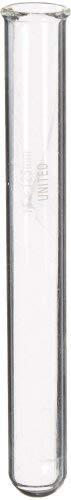 United Scientific TT9800-D Borosilicate Glass Test Tube with Rim, 15ml Capacity (Pack of 72)