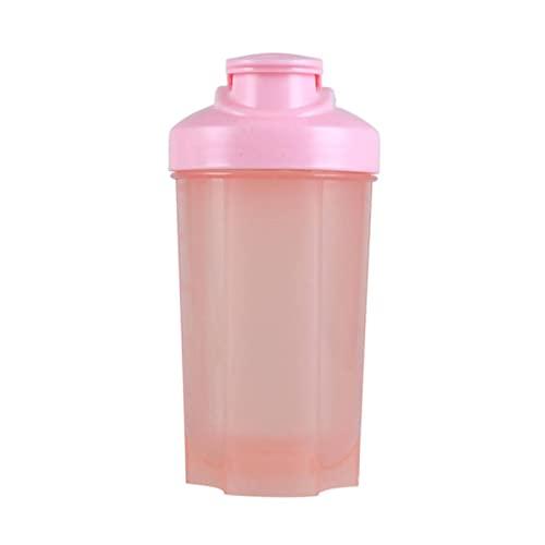 NC Vaso de Agua Deportivo a Prueba de Fugas portátil para Hombres y Mujeres Botella de Agua mezcladora de Polvo de proteína de Fitness