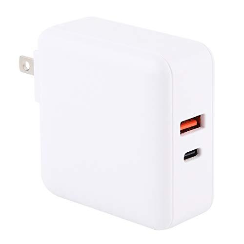 Cargador rápido Cargador rápido PD65W-A6 PD 65W 90 Grados Plegable Pin multifunción portátil USB, Enchufe de EE.UU, Liqingshangmao (Color : White)