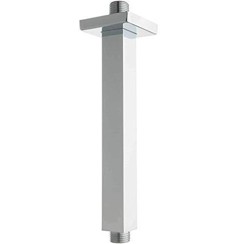 AAPLUS Brausearm Duschkopfhalterung Duschzubehör aus Edelstahl G1/2 zur Deckenmontage, für 8 Zoll Regenschauer Duschkopf,20CM x 2.5CM x 2CM(LxBxH)