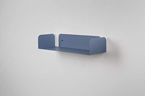 mensole da muro in metallo Mensola in metallo da muro colorata azzurro di design