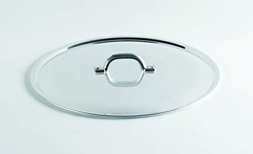 Pentole Agnelli FAMA2930 Coperchio in Alluminio, 30 cm, Argento