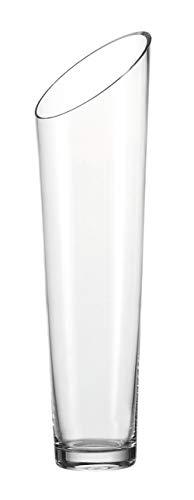 Leonardo Vase Dynamic, Höhe 50 cm, Durchmesser 16,5 cm, handgefertigtes Klarglas, 012306