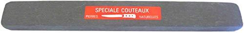 L'ARIEGEOISE, Pierre à aiguiser naturelle des Pyrénées 160 x 20 x 10 qualité Demi Dure Finition bercée