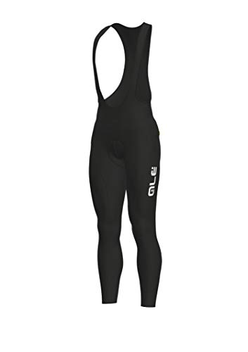 Alé Cycling Solid Winter Bib Tights heren zwart-wit 2019 broek