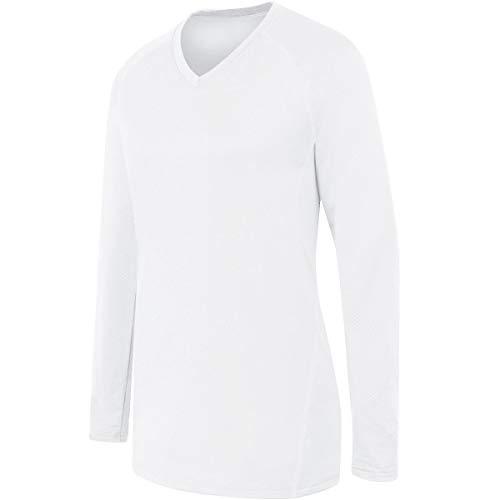 High Five Sportswear Mädchen High Five Girls Long Sleeve Solid Jersey Hemd, Weiß, Groß