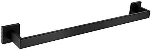 QOHG 60cm Barra de Toallas Individuales Toalla Perforada Toalla de Toalla Individual Hangero Hangoso Cuarto de baño Accesorios de Fregadero de Cocina (Cromado)