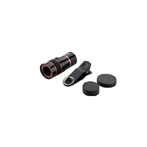 GGOOD Lente de cámara del telescopio HD 8X cámara del telescopio óptico para el teléfono móvil con Universal Clip Conveniente para el iPhone Samsung LG Sony ASUS iPad Negro
