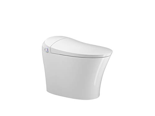 Ecofresh automatic flushing electric one piece tankless intelligent smart toilet Luxury smart bidet wc automatic filp