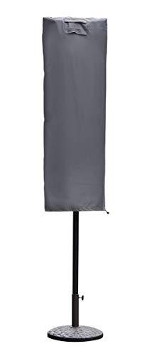 Sekey Schutzhülle für Sonnenschirm, Abdeckhauben für Sonnenschirm,160cm× 62cm, grau