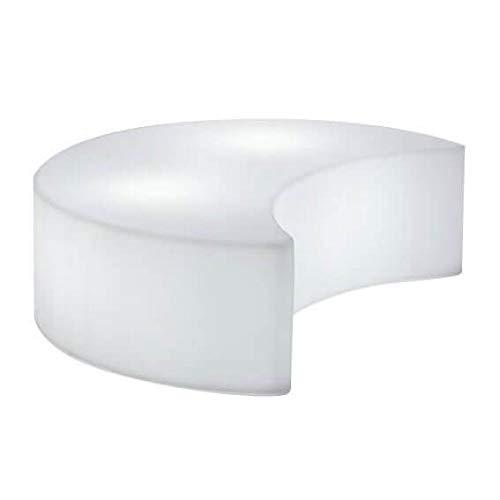 Slide Moon Out Pouf/Table basse Blanc brillant