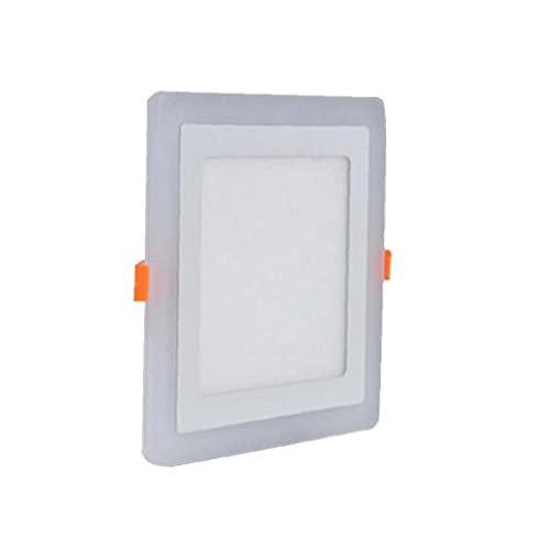 Panel de techo de luz LED moderna lámpara de techo doble del color de iluminación de interior de techo downlight cuadrado de 3W + 2W LED