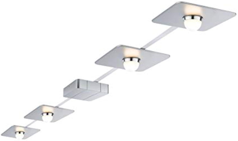 Paulmann LED Deckenleuchte PadLED System Set PowerPad 4x10W 8m Chrom matt Chrom  LEDs fest verbaut 10W 427lm warmwei  952.24