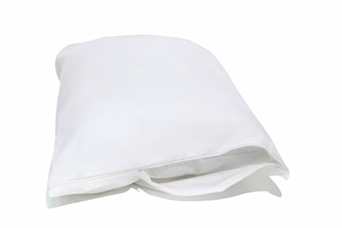 Allersoft 2 Pack Allergy and Bed Bug Proof Pillow Cover, Standard, White