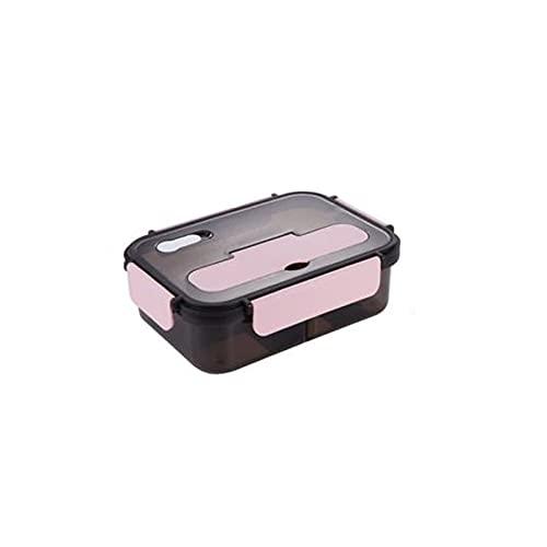 WJYD MDBH - Fiambrera transparente con aislamiento de almacenamiento para alimentos (color: rosa 1100 ml)
