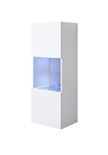 muebles bonitos Vitrina Luke V3 (40x126cm) Color Blanco