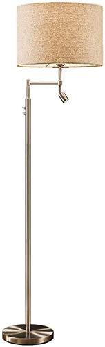 Lámpara de pie Luz de pie Lámparas verticales Luces Lámpara de pie Lámpara de pie nórdica americana Sala de estar Dormitorio creativo moderno simple Lámpara de lectura de cabecera Lámpara de pie verti