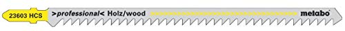 Metabo 623603000 5 Stichsägeblätter 150 mm / 4 HCS, Farbe, Size
