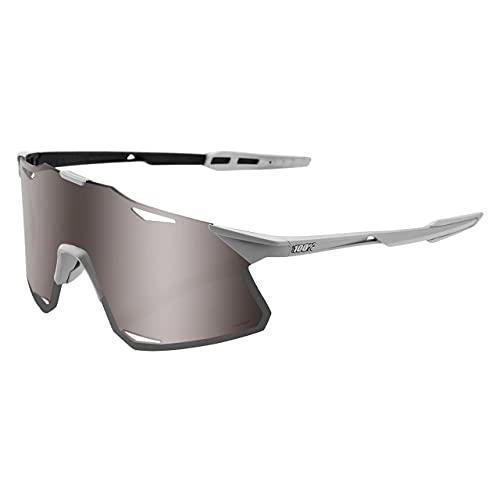 100% Hypercraft - Gafas de sol con espejo plateado