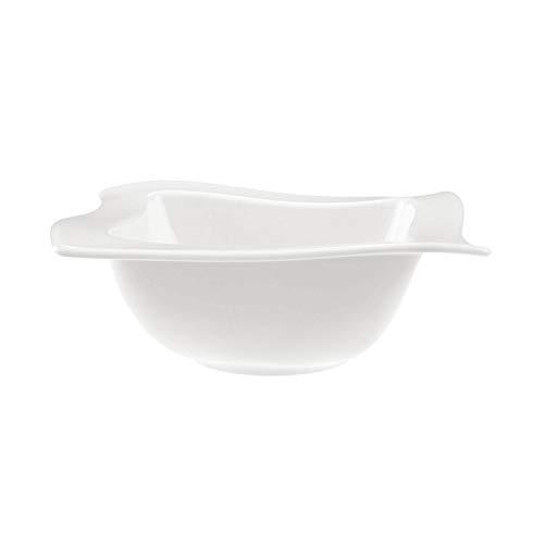 Villeroy & Boch - NewWave Bol, 600 ml, zeitgemäß servieren und genießen, Premium Porzellan, spülmaschinen-, mikrowellengeeignet, weiß