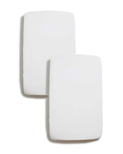 Niimo Lenzuola Compatibili Next to Me (Set 2pz) Lenzuola 100% Cotone Compatibile con culle cosleeping Chicco Lullago Kinderkraft UNO Cullami Cam Jane Babyside Brevi dimensioni 50x83 (Bianco+Bianco)