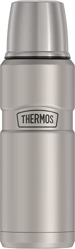 THERMOS Stainless King Vacuum-Insulated Compact Bottle, 16 Ounce, Matte Steel
