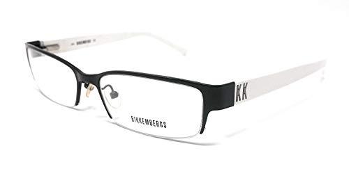 Bikkembergs BK-016 Sportbrille für Herren und Damen, Schwarz und Weiß, 02