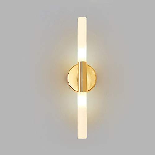 DROMEZ Lámpara de Pared LED Moderna para Interior,Apliques de Pared para Dormitorio Pantalla de Vidrio,Luz de Pared de Fondo para Sala de Estar,Lámpara de Espejo,5 W,Dorado