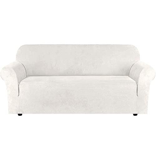 Funda elástica para sofá, funda para sofá, protector de muebles suave con fondo elástico para niños, tela de licra y jacquard,3 seater