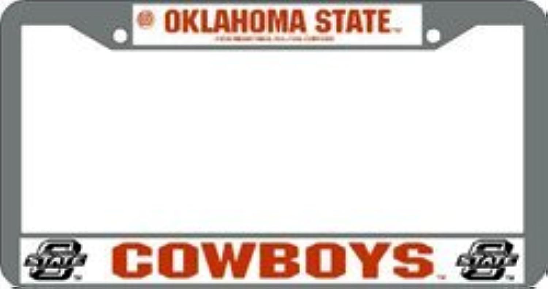 Oklahoma State Cowboys License Plate Frame Chrome