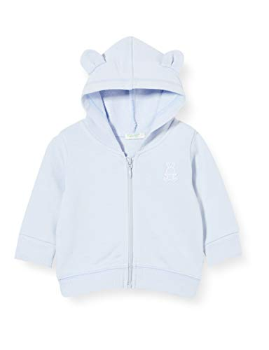 United Colors of Benetton (Z6ERJ) Baby-Jungen Giacca C/CAPP M/L Pullover, Heather 081, 56 cm