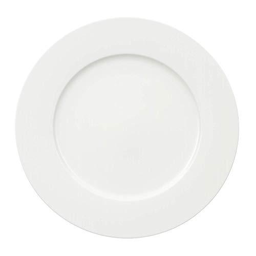 Villeroy & Boch - Royal Gourmetteller, eleganter, runder Speiseteller aus hochwertigem Premium Bone Porzellan, weiß, spülmaschinenfest, 300 mm