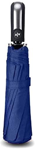 JUST ALONE Ombrelloni Parasole Antivento Pieghevole Automatico Ombrello Pioggia Donne Auto di Lusso Grandi ombrelli Antivento Pioggia per Gli Uomini Ombrello (Colore : Blu)